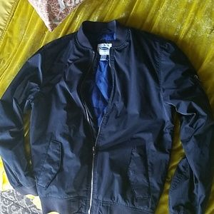 Old Navy Men's Blue Lined Bomber Style Jacket